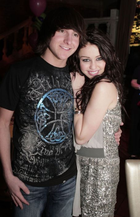 Mitchel Musso  and gf miley cyrus