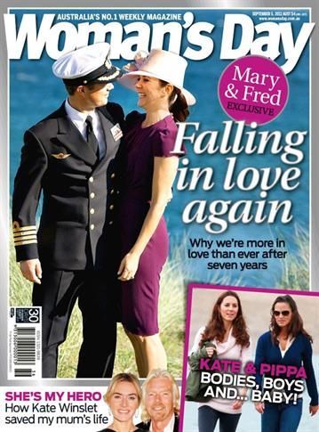 Kronprinsesse Mary, Kronprins Frederik, Kate Middleton, Pippa Middleton, Kate Winslet - Woman's Day Magazine Cover [Australia] (3 September 2011)