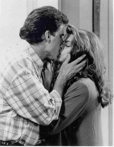Ted Danson  and Kirstie Alley on Cheers