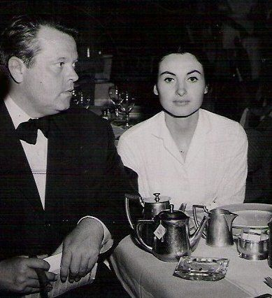 Orson Welles  and Paola Mori