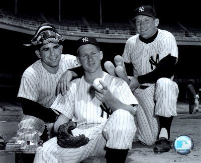 Mickey Mantle Yogi Berra, Whitey Ford & Mickey