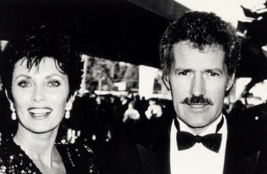 Alex Trebek Beverly Adams and