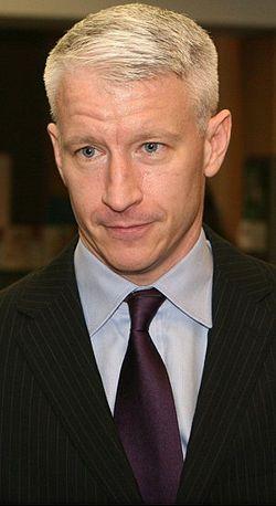 Anderson Cooper  looking pensive.
