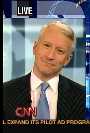 Anderson Cooper  looking amused.