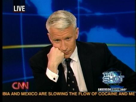 Anderson Cooper  looking exasperated with American politics.