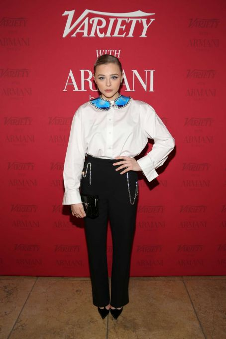 Chloe Moretz – Variety x Armani Makeup Artistry Dinner in Los Angeles