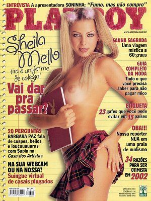Sheila Mello - Playboy Magazine Cover [Brazil] (January 2002)