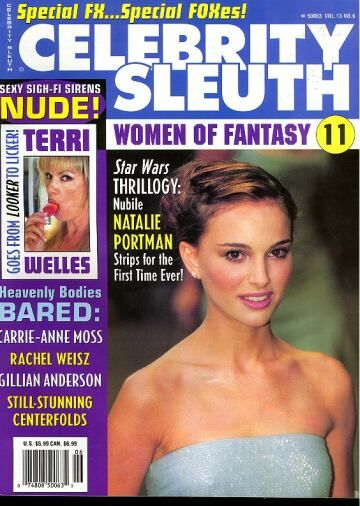 Natalie Portman - Celebrity Sleuth Magazine Cover [United States] (July 2000)
