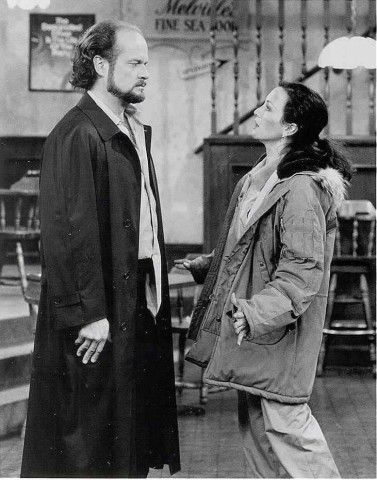 Kelsey Grammer  and Bebe Neuwirth in Cheers