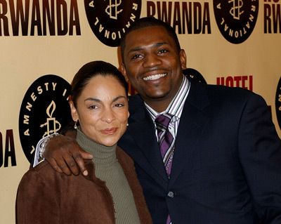 Mekhi Phifer  and Jasmine Guy - HOTEL RAWANDA opening