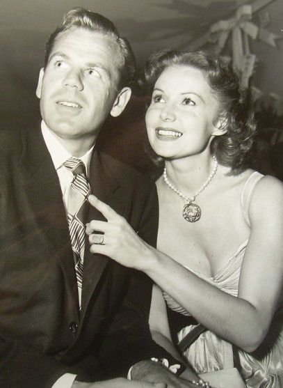 Rhonda Fleming  and Lew Morrell