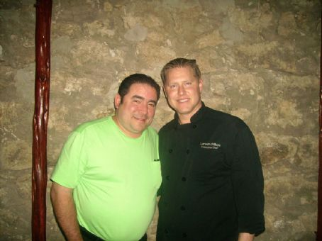 Emeril Lagasse This is  with a man named Larsen. He was spotted by Leona Flowers. If you are wondering this is this man  was seen hanging out with personally