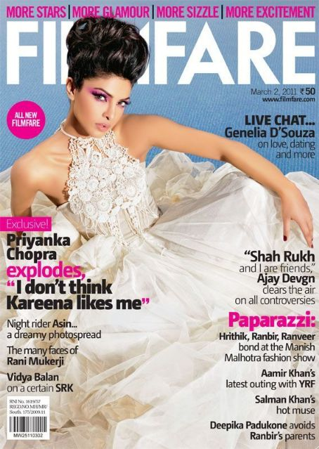 Priyanka Chopra - Filmfare Magazine Cover [India] (2 March 2011)