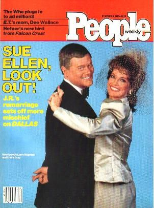 Larry Hagman  and Linda Grey