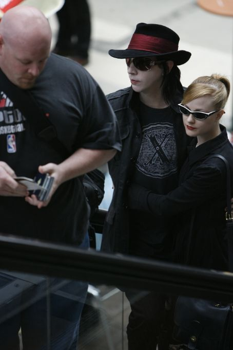Evan Rachel Wood Evan Wood and Marilyn Manson