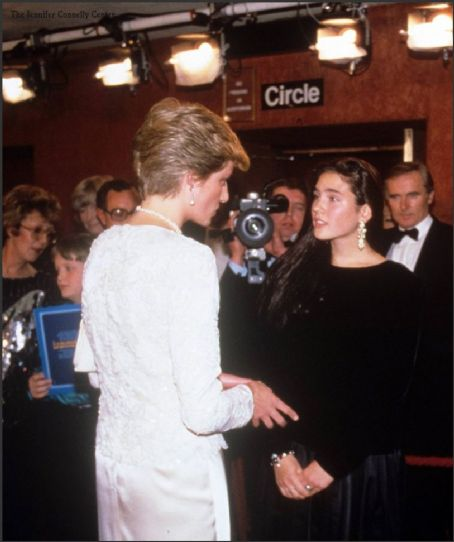 Jennifer Connelly meets Princess Diana at Labyrinth premiere, London 1986