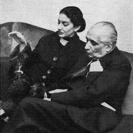 Maria Callas and Giovanni Battista Meneghini