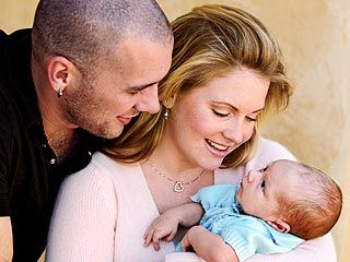 Melissa Joan Hart Mark Wilkerson and  and their baby