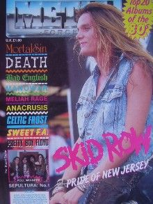 Sebastian Bach - Metal Forces Magazine Cover [United Kingdom] (February 1990)