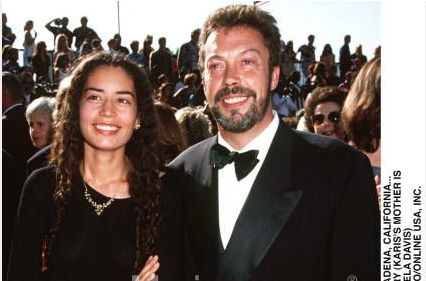 Karis Jagger Hunt  and Tim Curry