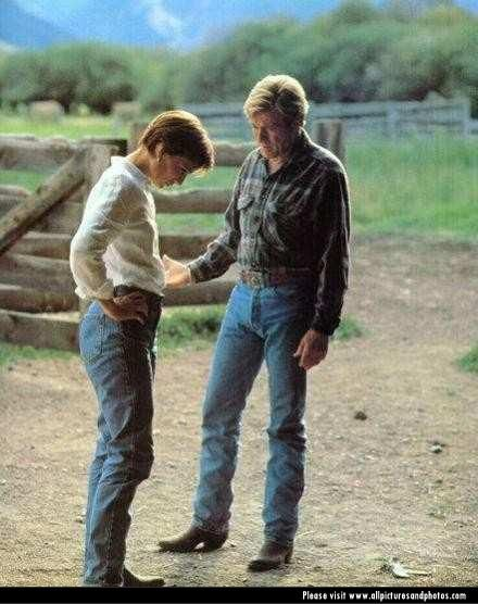 The Horse Whisperer Kristin Scott Thomas and Robert Redford in  (1998)