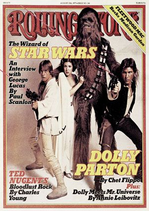 Mark Hamill Harrison Ford,  and Carrie Fisher in Rolling Stone Magazine