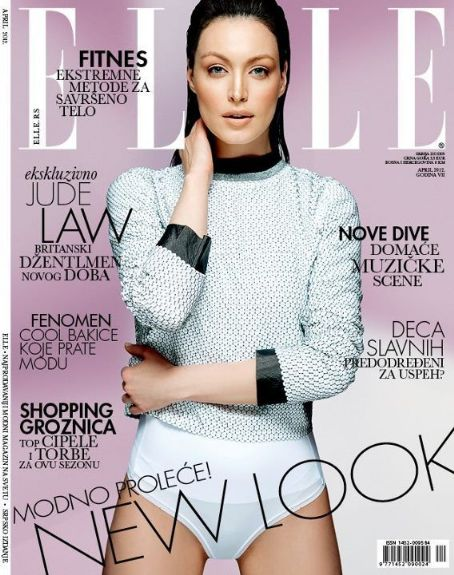Tijana Sarenac - Elle Magazine Cover [Serbia] (April 2012)
