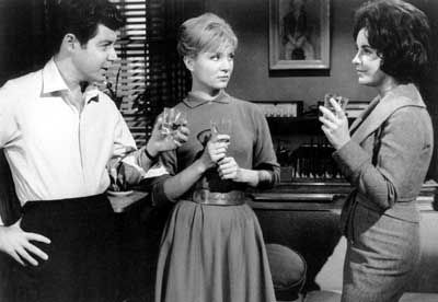 Susan Oliver Susan with Eddie Fisher & LizTaylor