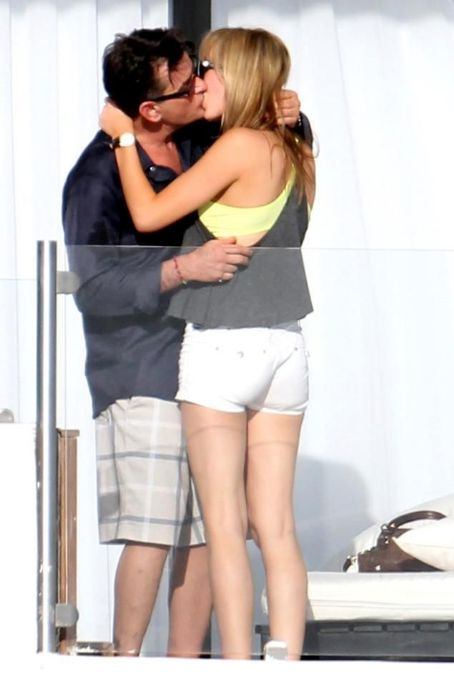 Brett Rossi  and Charlie Sheen in Cabo Mexico