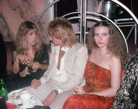 Rod Stewart Bebe Buell and , fall 1977