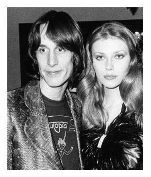 Bebe Buell and Todd Rundgren , 1974