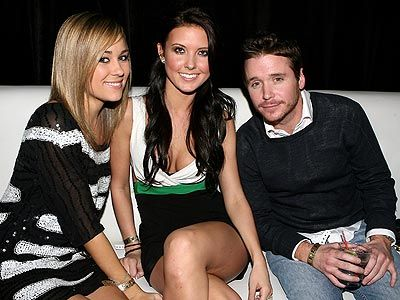 Entourage Kevin Connolly, Lauren Conrad and Audrina Patridge hung out at the Playboy Super Bowl 2008 Party