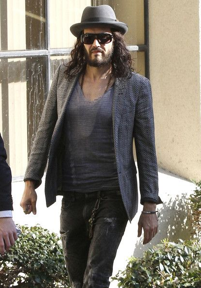 Russell Brand arriving at an office building in Los Angeles, CA on March 19, 2012