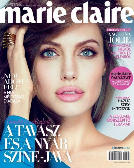 Angelina Jolie - Marie Claire Magazine Cover [Hungary] (March 2012)