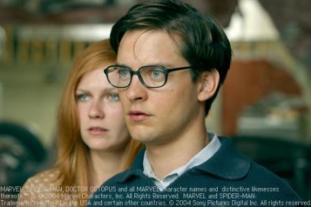 Mary Jane Watson Kirsten Dunst and Tobey Maguire in Spider-Man 2