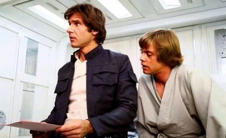 Mark Hamill Harrison Ford and  in Star Wars: Episode V - The Empire Strikes Back (1980)