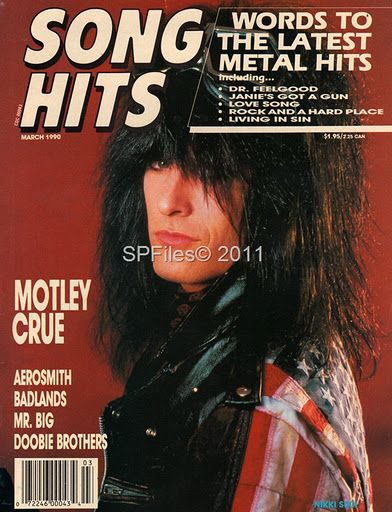 Nikki Sixx - Song Hits Magazine Cover [United States] (January 1990)