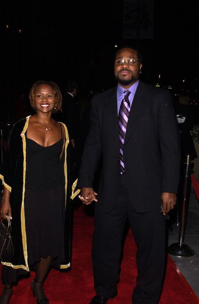 Malcolm-Jamal Warner  and Karen Malina White