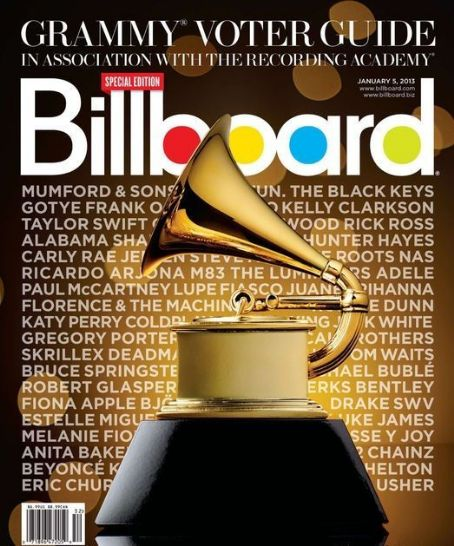 Adele, Taylor Swift, Paul McCartney, Lupe Fiasco, Kelly Clarkson, Rihanna, Katy Perry, Beyoncé Knowles, Anita Baker, Fiona Apple, Usher Raymond, Carly Rae Jepsen - Billboard Magazine Cover [United States] (5 January 2013)