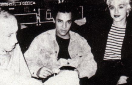 Nick Kamen  and Madonna 1987 Recording Session
