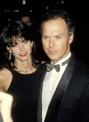 Michael Keaton Courteney Cox and