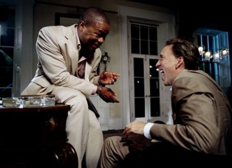 Xzibit as Big Fate and Nicolas Cage as Terence McDonagh in First Look Pictures' Bad Lieutenant: Port of Call New Orleans.