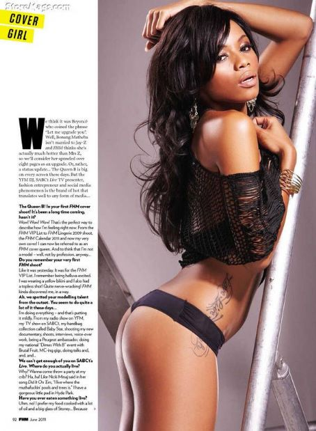Bonang Matheba - FHM Magazine Pictorial [South Africa] (June 2011)
