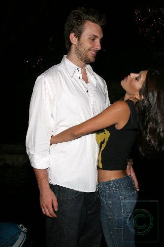 Rachel Sterling playmate 2006  and husband Conrad Adamczak at Playboy mansion charity event