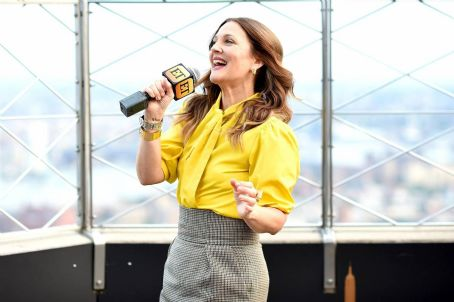 Drew Barrymore – Pictured by lighting the Empire State Building in Midtown Manhattan