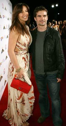 Jeff Gordon  and Ingrid Vandebosch
