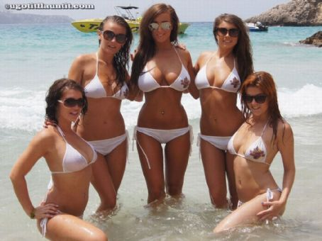 Stacey P  and Friends Topless At The Beach