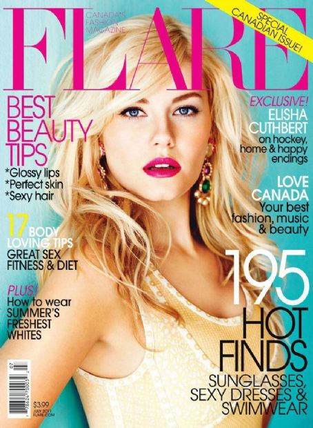 Elisha Cuthbert - Flare Magazine Cover [Canada] (July 2011)