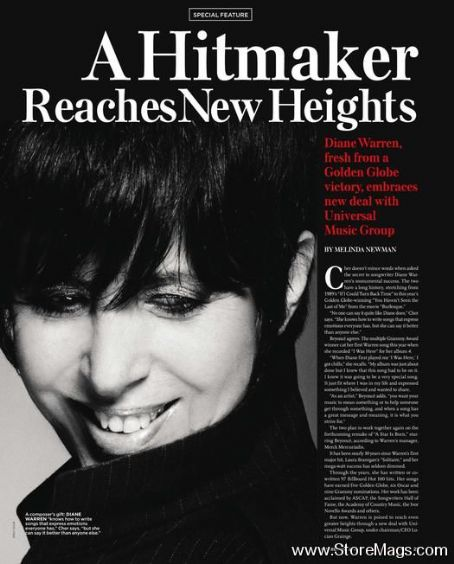 Diane Warren - Billboard Magazine Pictorial [United States] (29 October 2011)