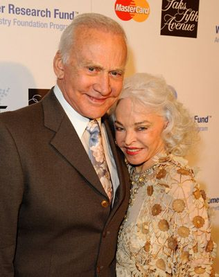 Buzz Aldrin  and Lois Driggs Cannon